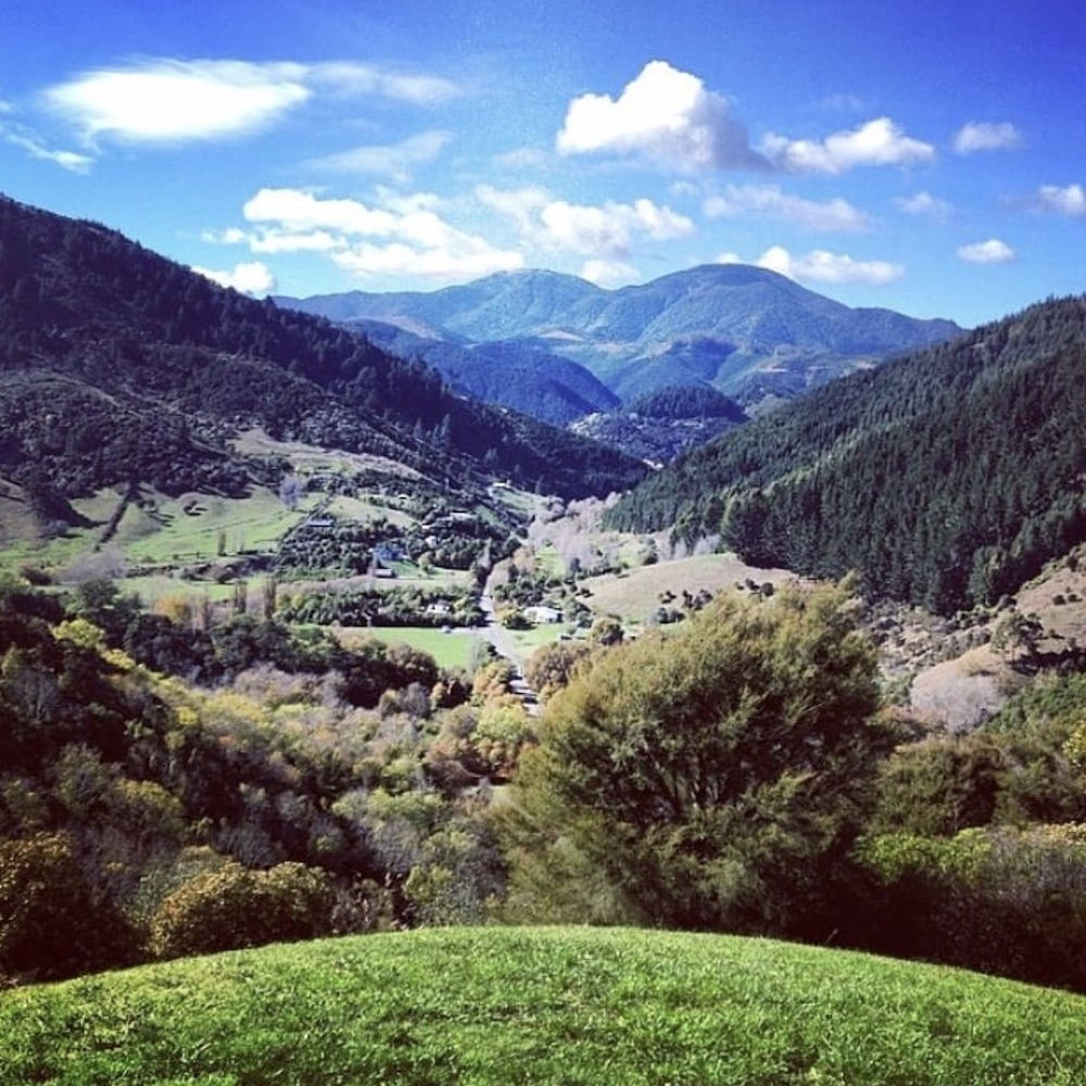 The View Of Maitai Valley From The Centre Of NZ